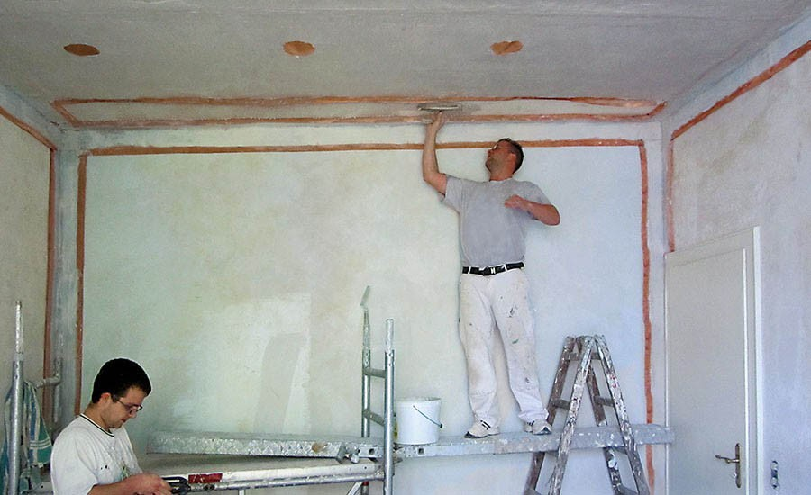 Shielding of wall and ceiling